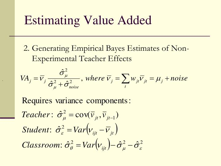 Estimating Value Added