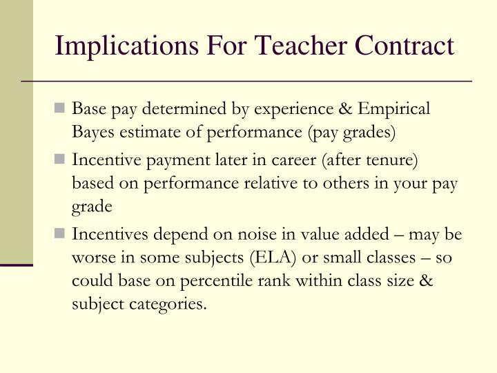 Implications For Teacher Contract