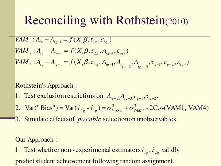 Reconciling with Rothstein