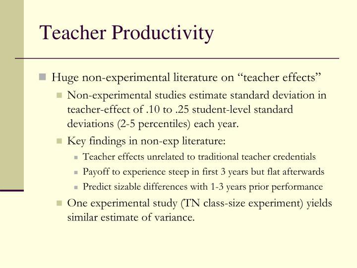 Teacher Productivity