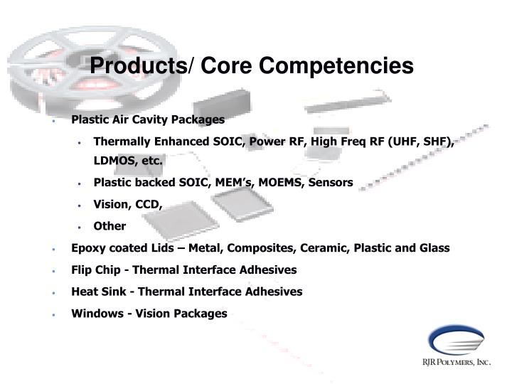 Products/ Core Competencies
