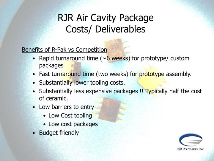 RJR Air Cavity Package