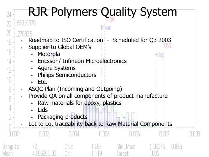 RJR Polymers Quality System