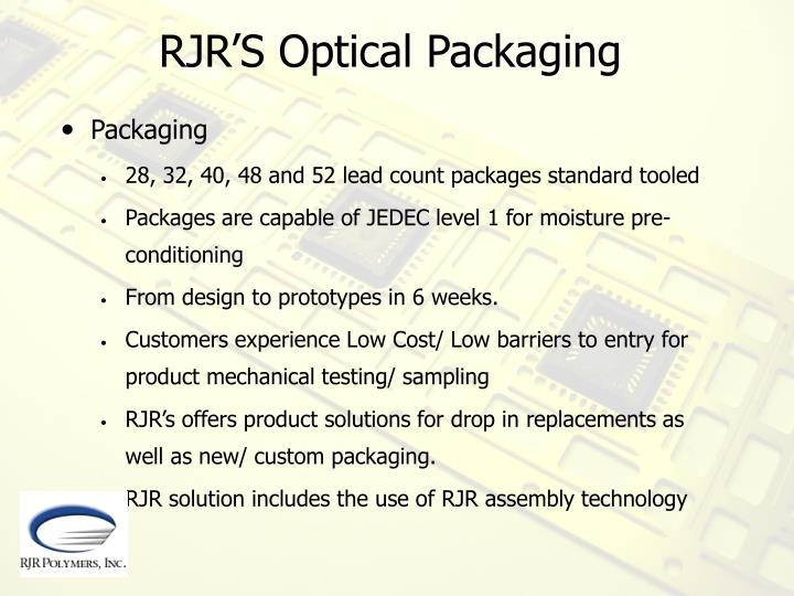 RJR'S Optical Packaging