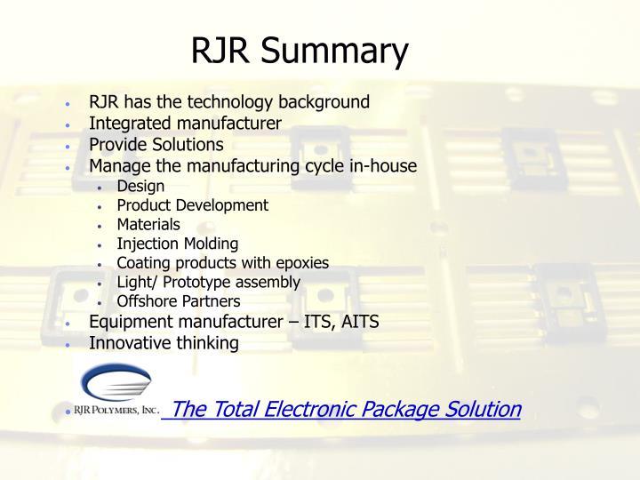 RJR Summary