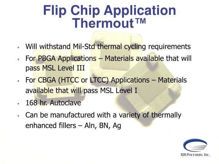 Flip Chip Application