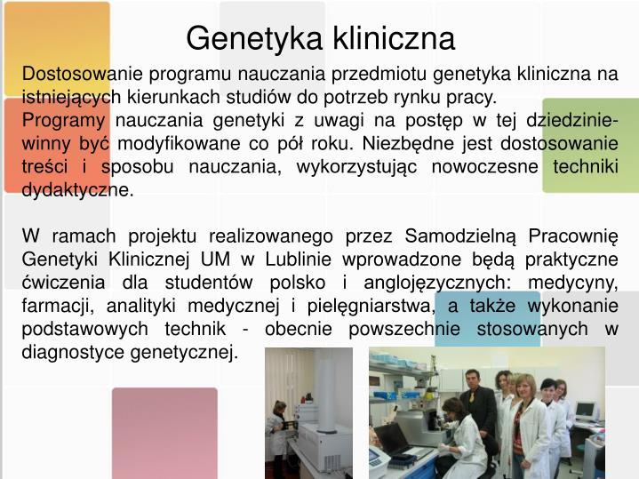 Genetyka kliniczna