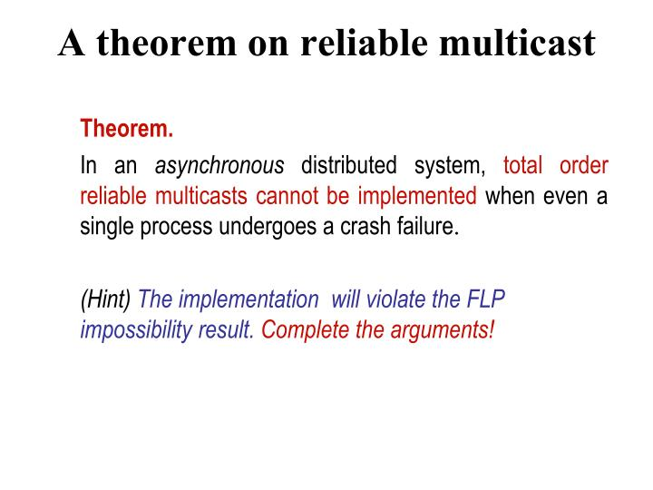 A theorem on reliable multicast