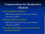 compensations for respiratory alkalosis