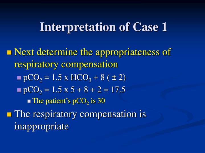 Interpretation of Case 1