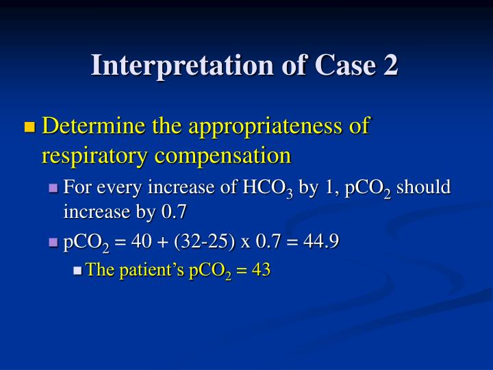 Interpretation of Case 2
