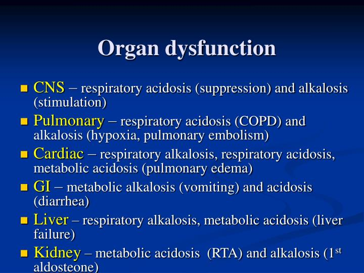 Organ dysfunction