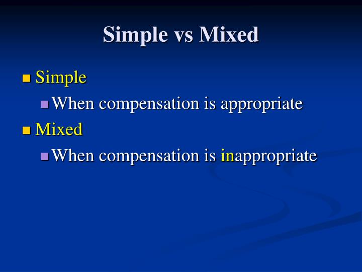 Simple vs mixed