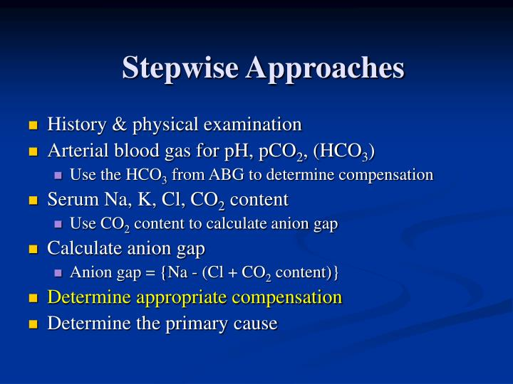 Stepwise Approaches