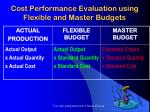 cost performance evaluation using flexible and master budgets