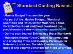 standard costing basics