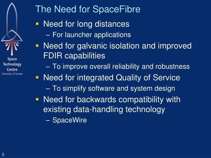 The Need for SpaceFibre