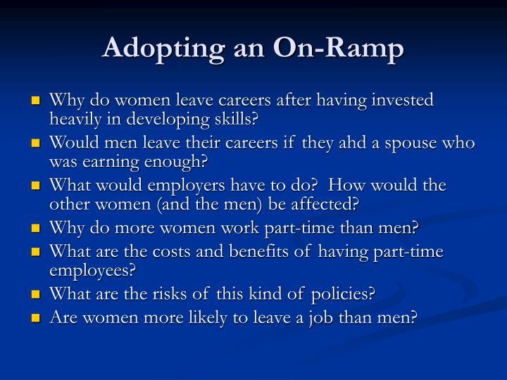 Adopting an On-Ramp