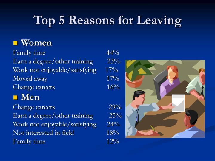 Top 5 Reasons for Leaving