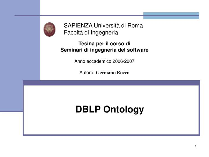 Dblp ontology