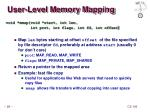 user level memory mapping