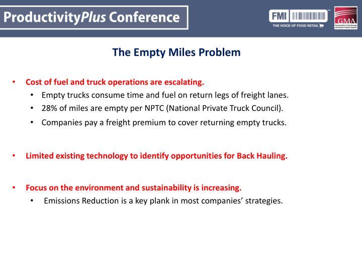 The Empty Miles Problem