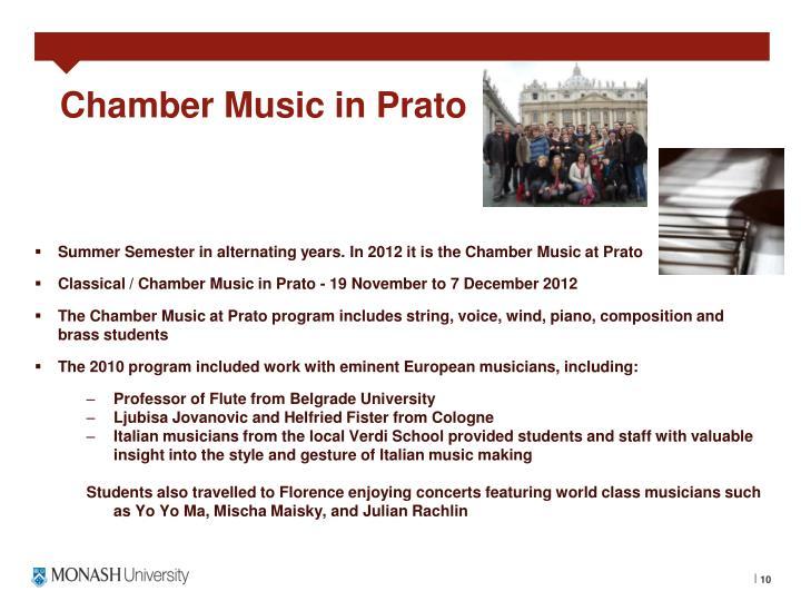 Chamber Music in Prato