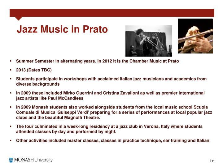 Jazz Music in Prato