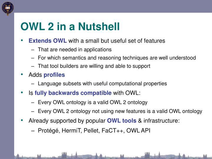 OWL 2 in a Nutshell