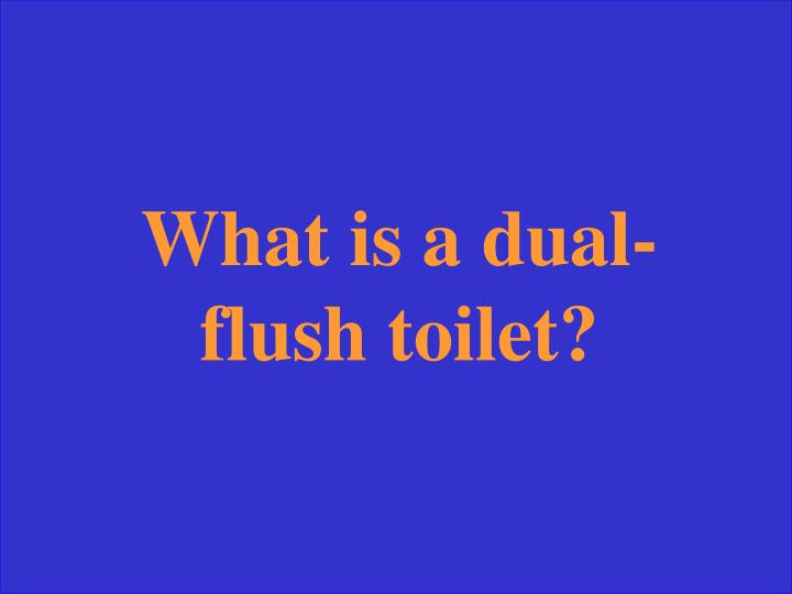 What is a dual-flush toilet?
