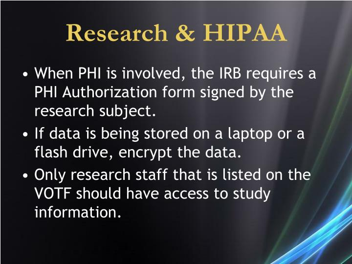 Research & HIPAA