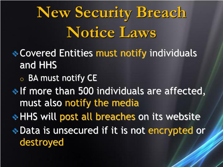 New Security Breach