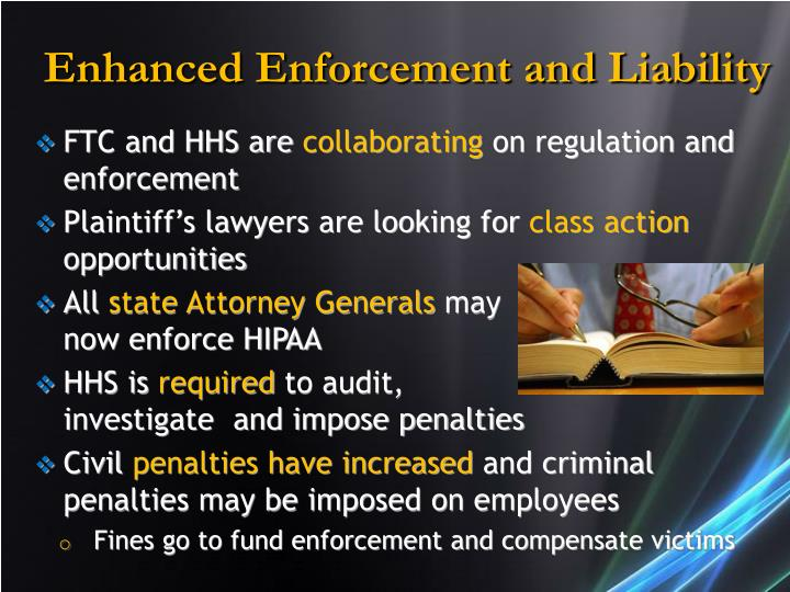 Enhanced Enforcement and Liability