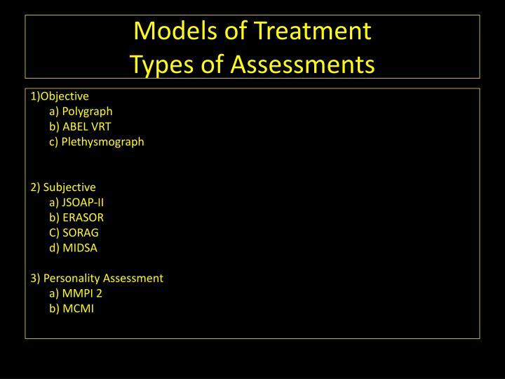 Models of Treatment