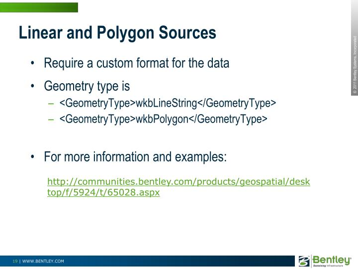 Linear and Polygon Sources