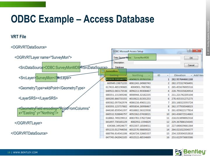 ODBC Example – Access Database