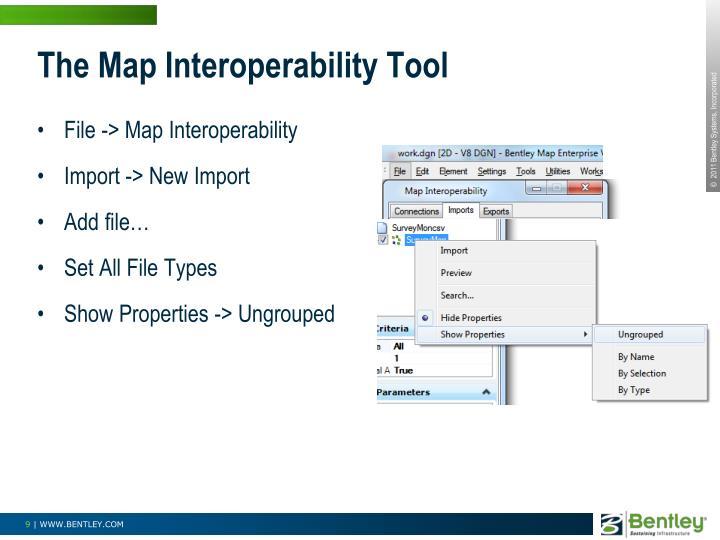 The Map Interoperability Tool