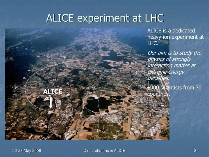 ALICE experiment at LHC
