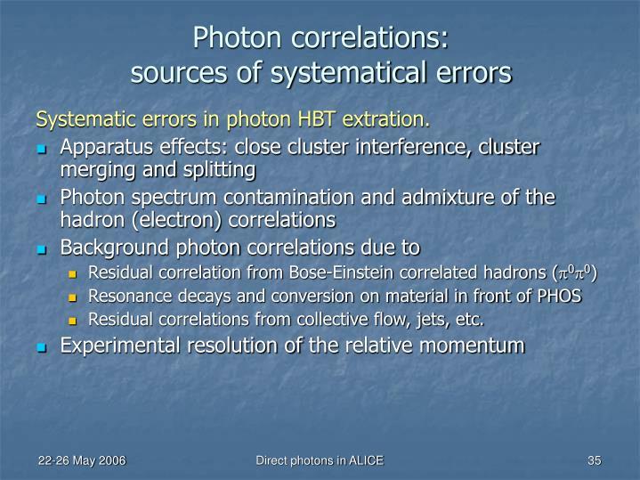 Photon correlations: