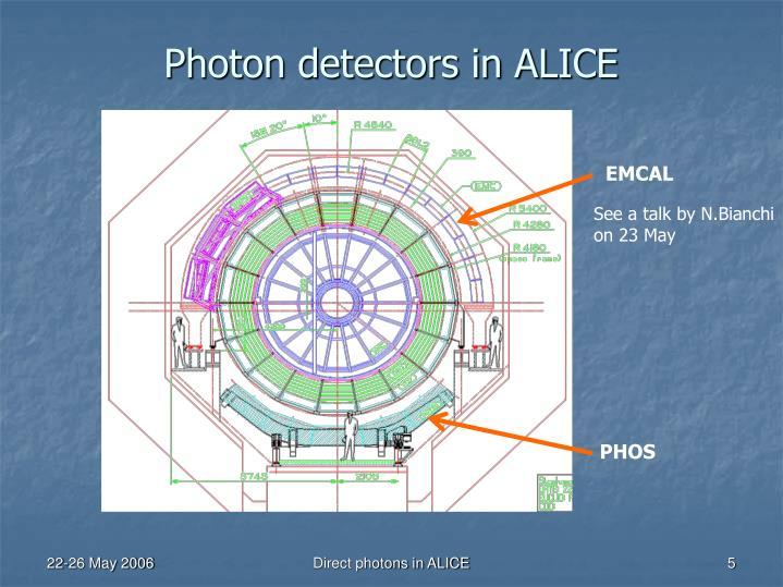 Photon detectors in ALICE