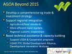agoa beyond 2015