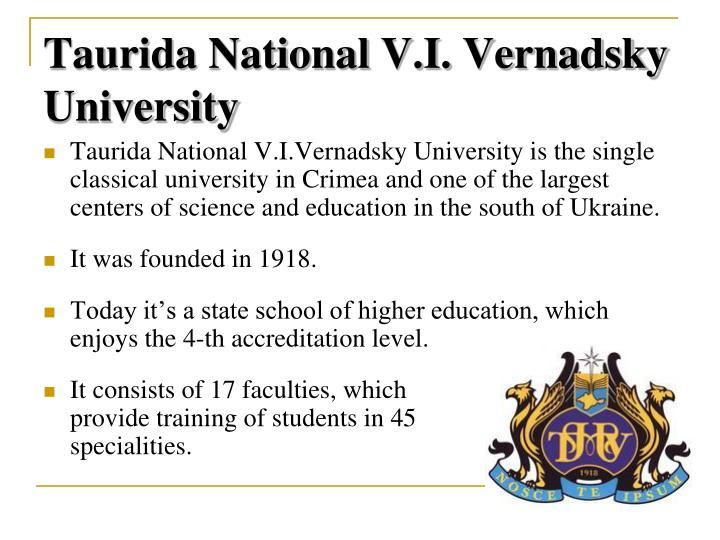 Taurida National V.I. Vernadsky University