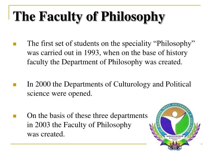 The Faculty of Philosophy