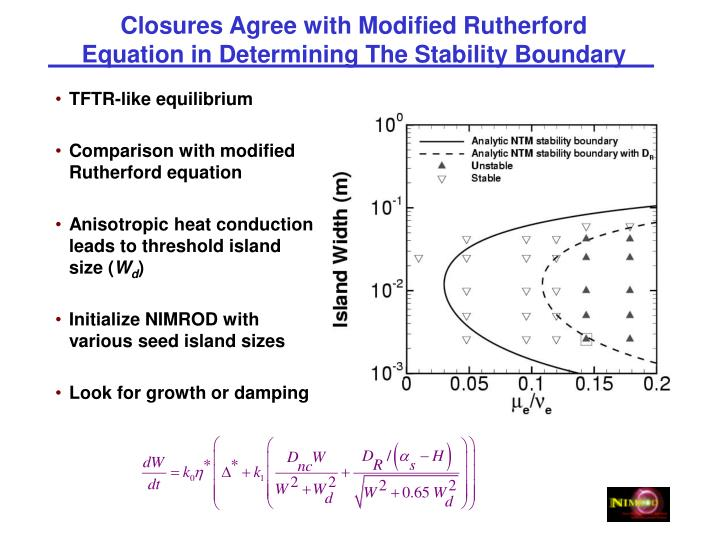Closures Agree with Modified Rutherford