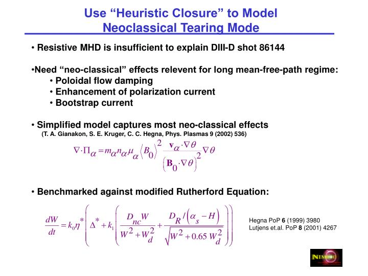 """Use """"Heuristic Closure"""" to Model"""