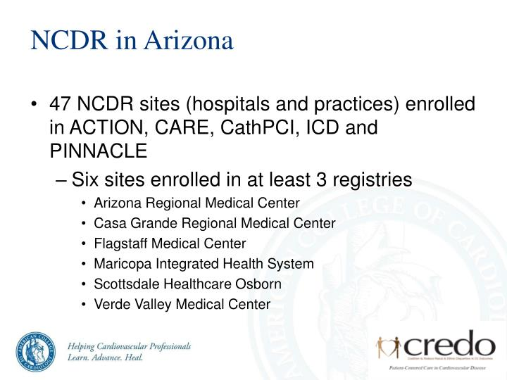 NCDR in Arizona