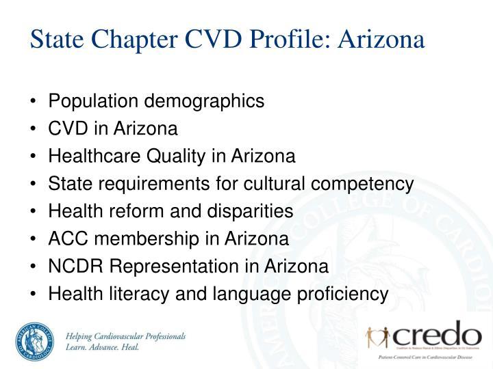 State Chapter CVD Profile: Arizona