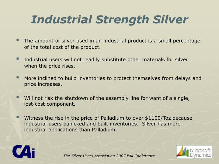 The Silver Users Association 2007 Fall Conference