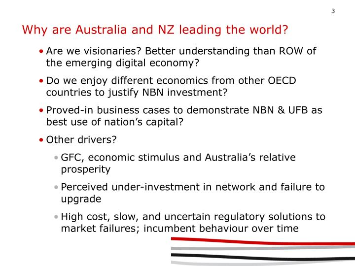 Why are Australia and NZ leading the world?