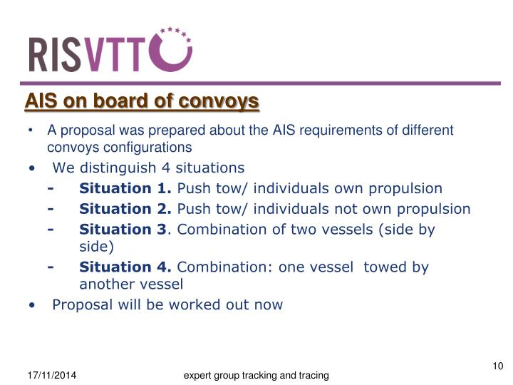 AIS on board of convoys